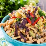 Tex Mex Pasta Salad with beans and corn