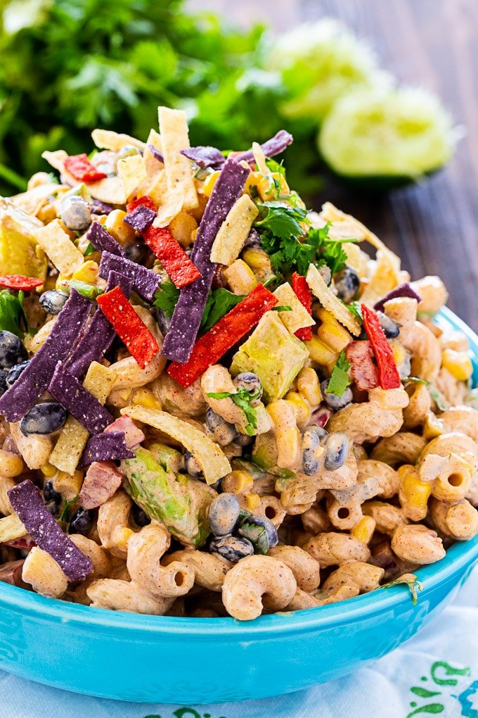 Tex Mex Pasta Salad Spicy Southern Kitchen