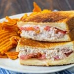Tuna Melt with swiss cheese