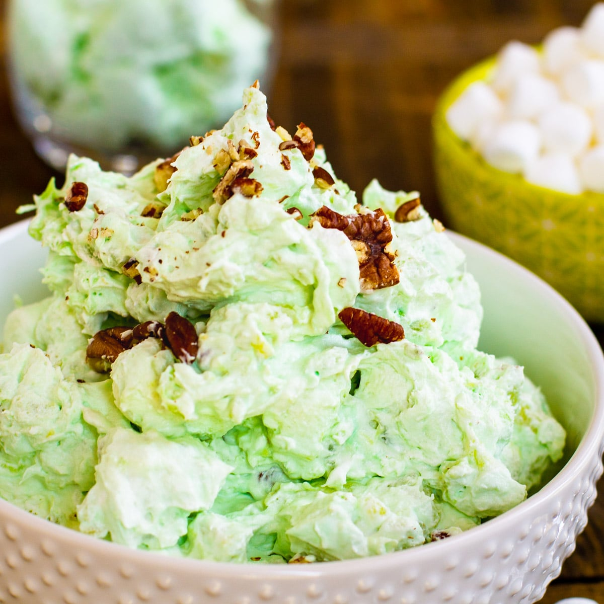 Bowl full of Watergate Salad.