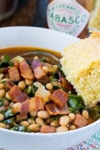 White Bean and Collard Green Soup