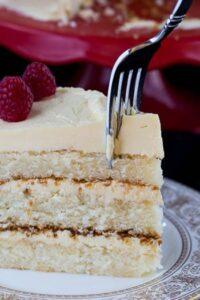 White Cake with Jack Daniels Buttercream