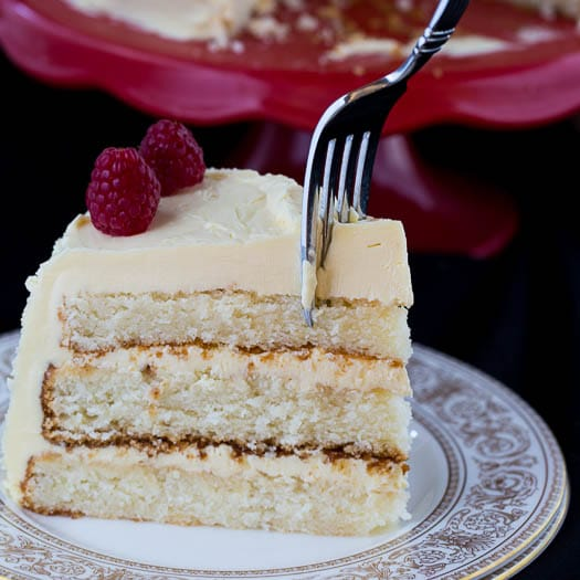 White Cake with Jack Daniels Buttercream
