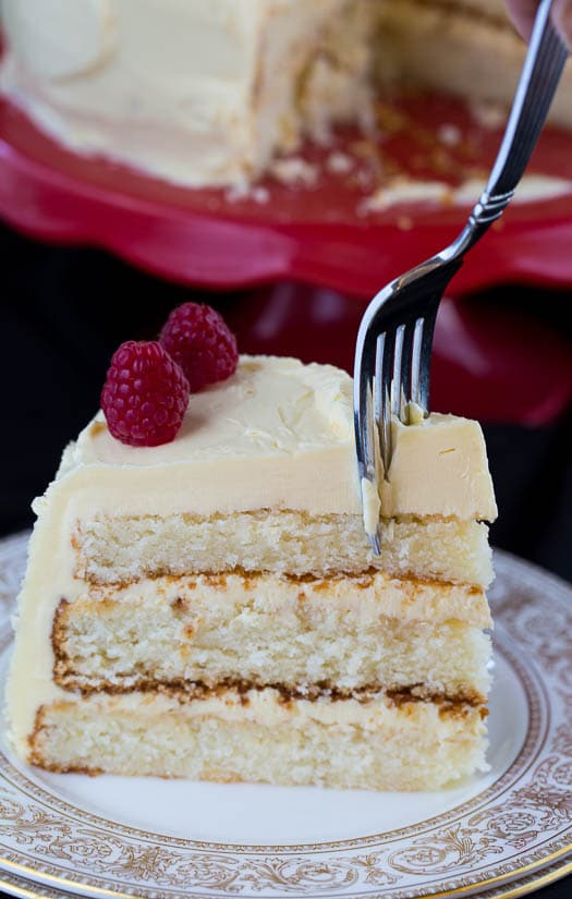 White Cake with Bourbon Buttercream