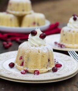 Almond Cranberry Cake with Mascarpone Frosting