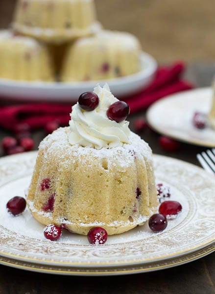 Almond Cranberry Cake with Mascarpone Frosting