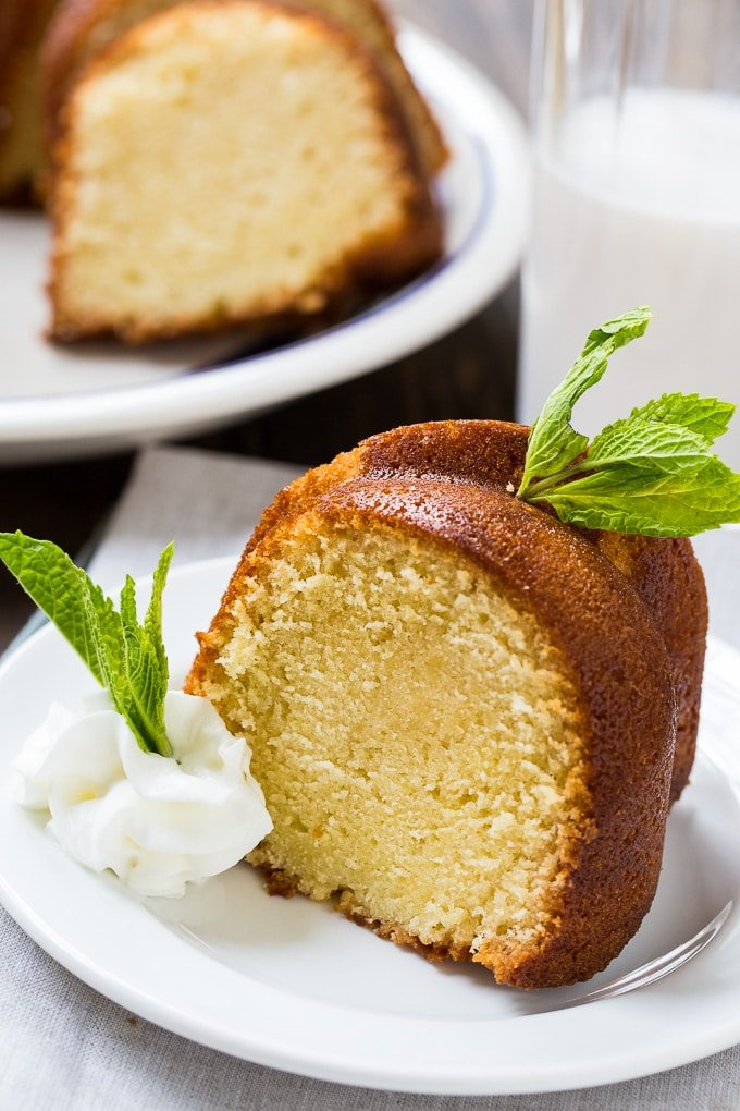 Homemade Amaretto Pound Cake