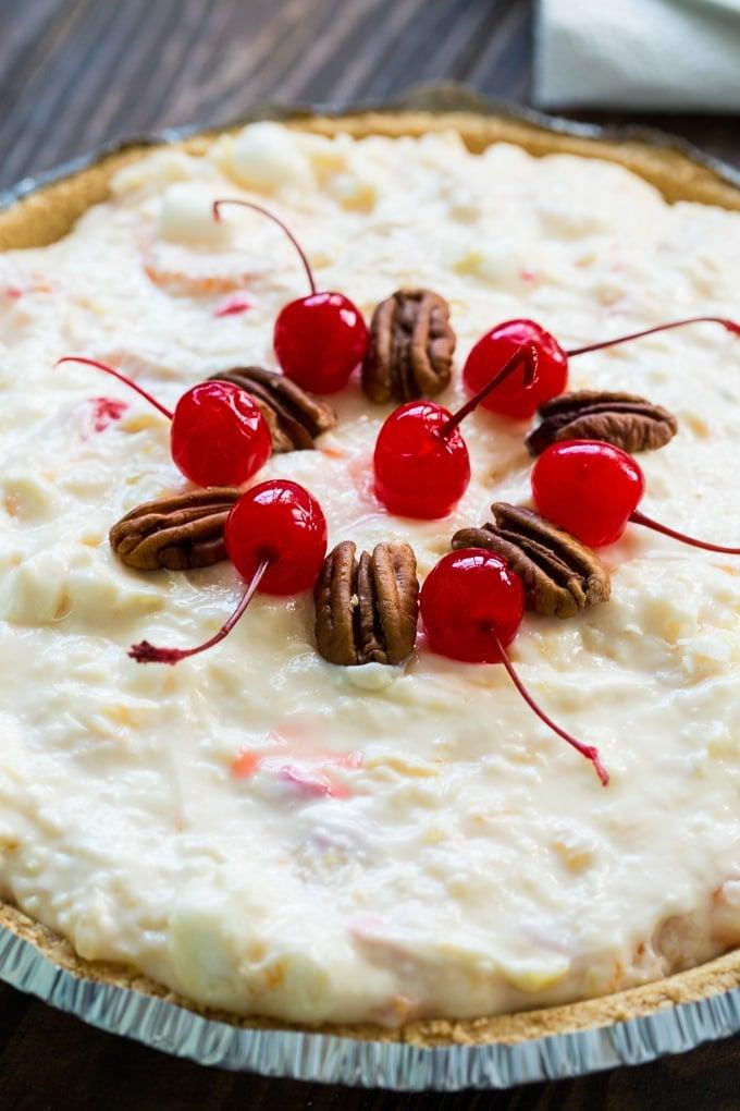 No-Bake Ambrosia Pie