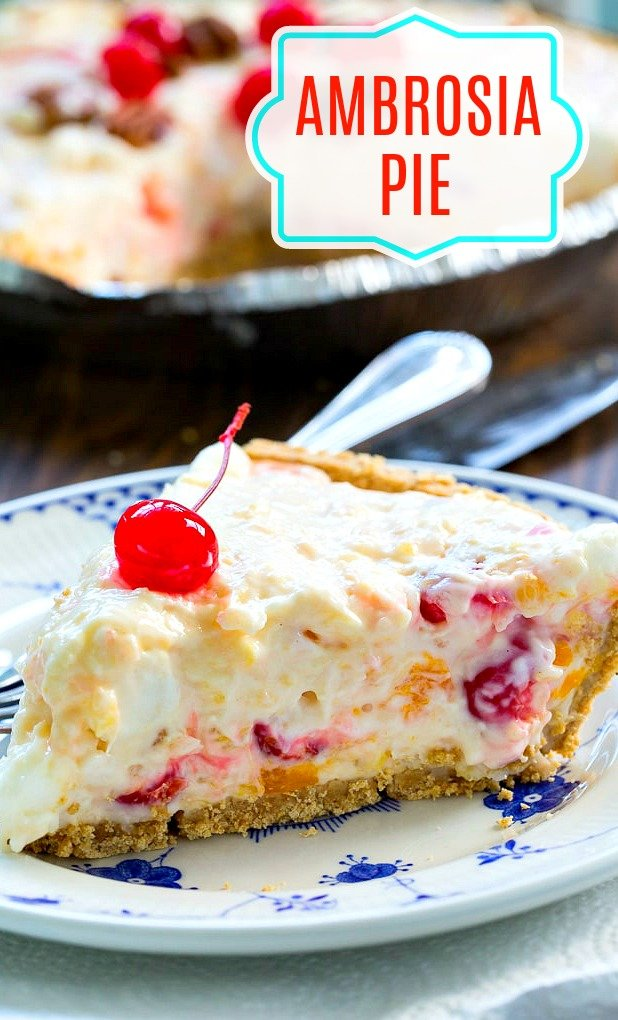 No-Bake Ambrosia Pie
