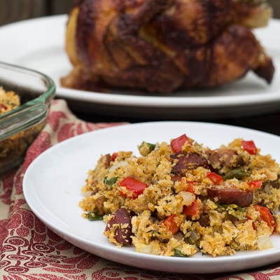 Abdouille Sausage and Cornbread Stuffing