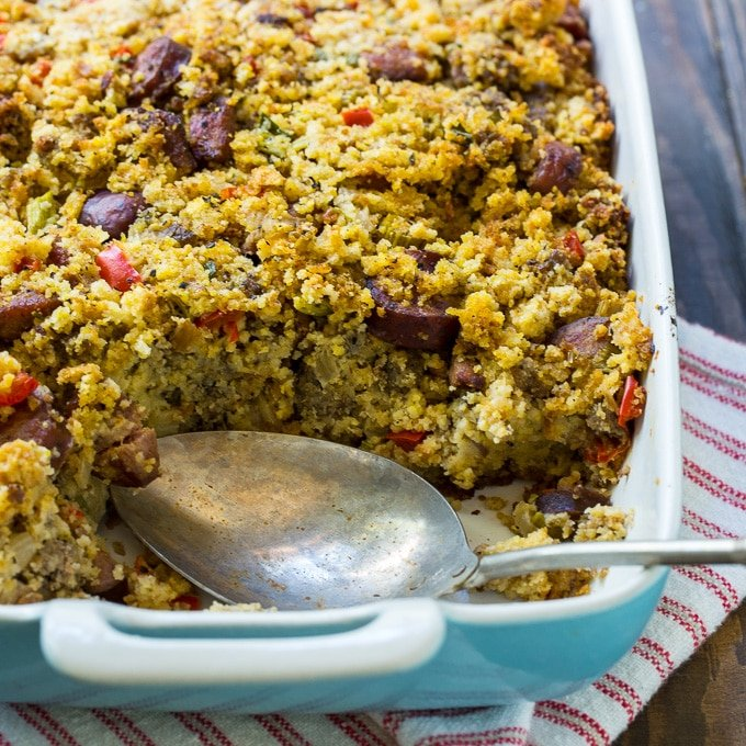 Southern Andouille Sausage and Cornbread Stuffing