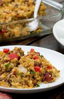 Andouille Sausage and Cornbread Stuffing