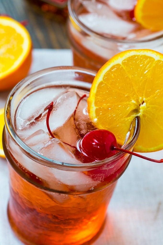Bourbon Amaretto Cocktail- only 4 ingredients!