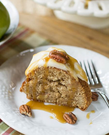 Caramel Apple Pound Cake with Cream Cheese Frosting