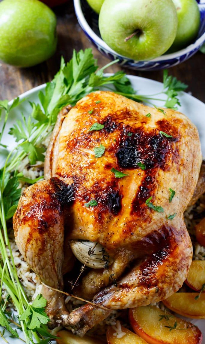 Apple Cider Basted Roasted Chicken