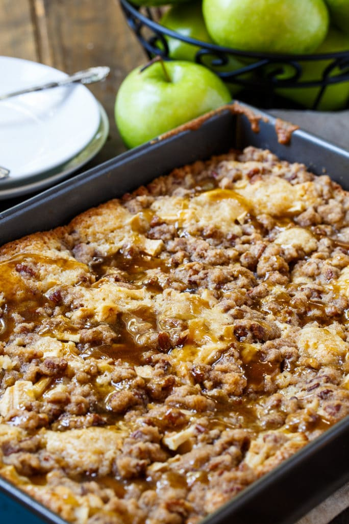 Apple Crisp Coffee Cake- perfect for fall!