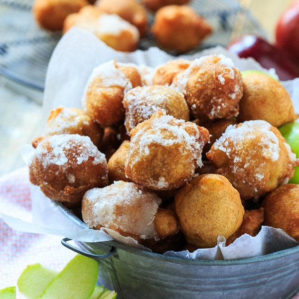 Frisky Apple Fritters with Jack Daniels