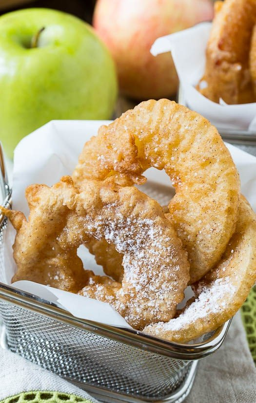 Beer-Battered Apple Rings