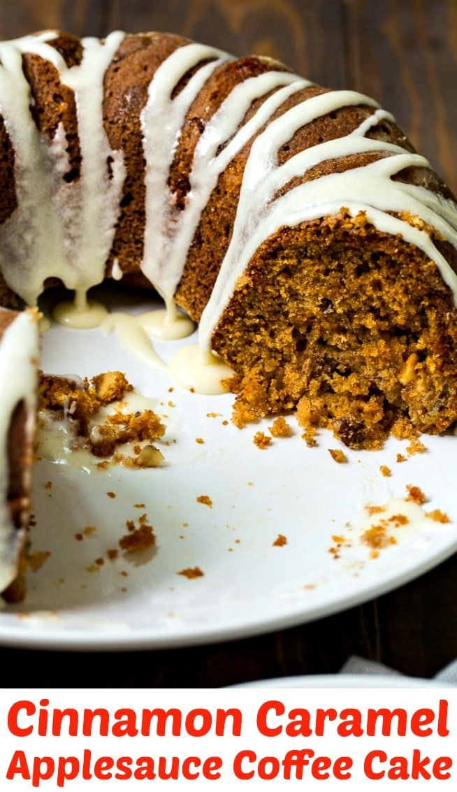 Cinnamon Caramel Applesauce Coffee Cake