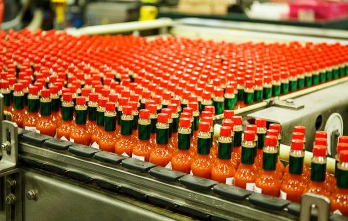 TABASCO sauce bottling