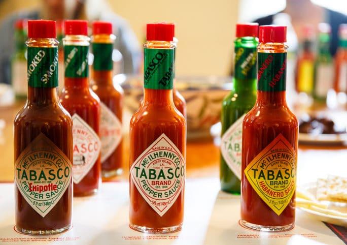 TABASCO sauce tasting