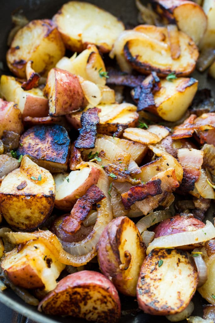 Bacon-Braised Red Potatoes