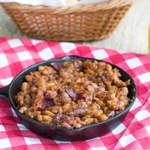 Slow Cooker Bourbon BBQ Baked Beans