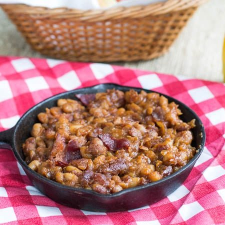 Slow Cooker Bourbon BBQ Baked Beans