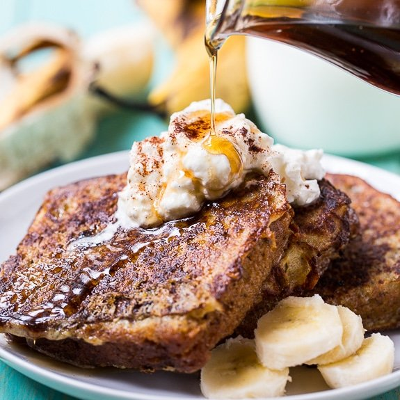 White Chocolate Banana Bread French Toast - Spicy Southern Kitchen