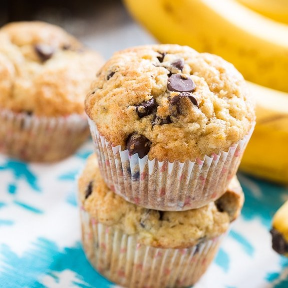 Chocolate Chip And Banana Muffins Uk
