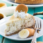 Banana Pudding Cheesecake with a vanilla wafer crust.
