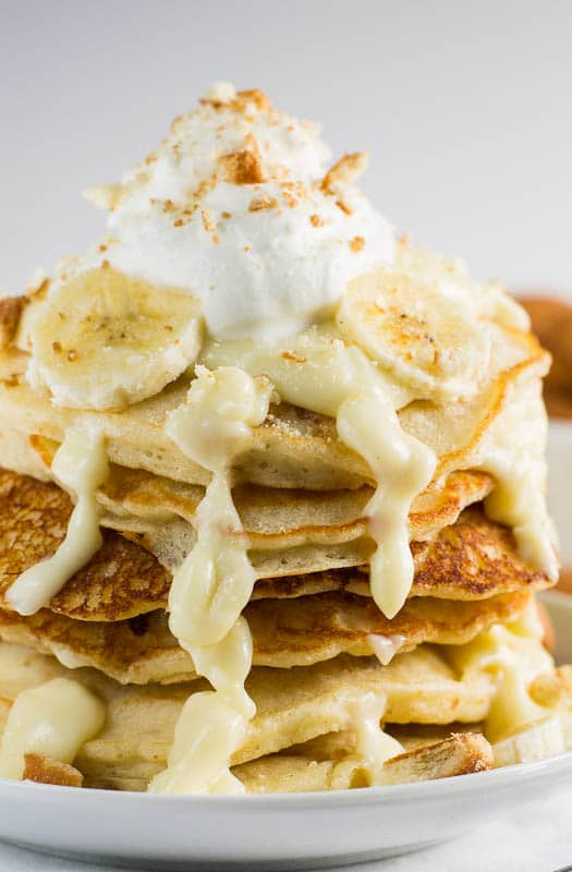 Banana Pudding Pancakes #recipe #southern