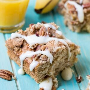 Bananas Foster Coffee Cake with Rum Glaze