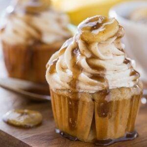 Bananas Fosters Cupcakes