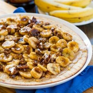 Bananas Foster Dessert Pizza