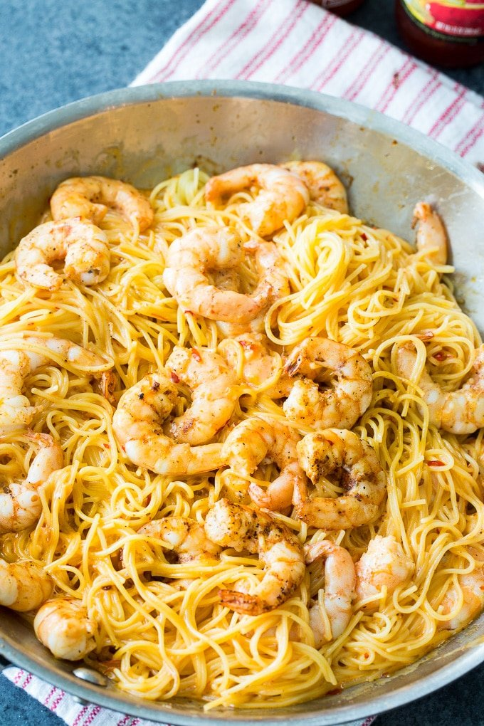 Bang Bang Shrimp Pasta recipe
