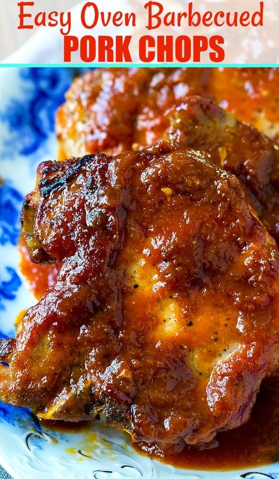 Close-up of pork chops