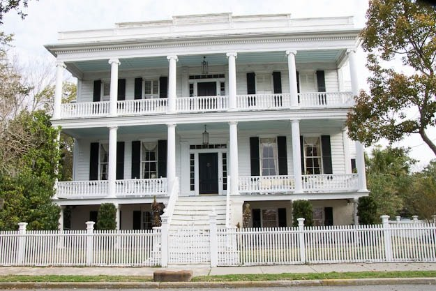historic home on Bay St in Beaufort SC