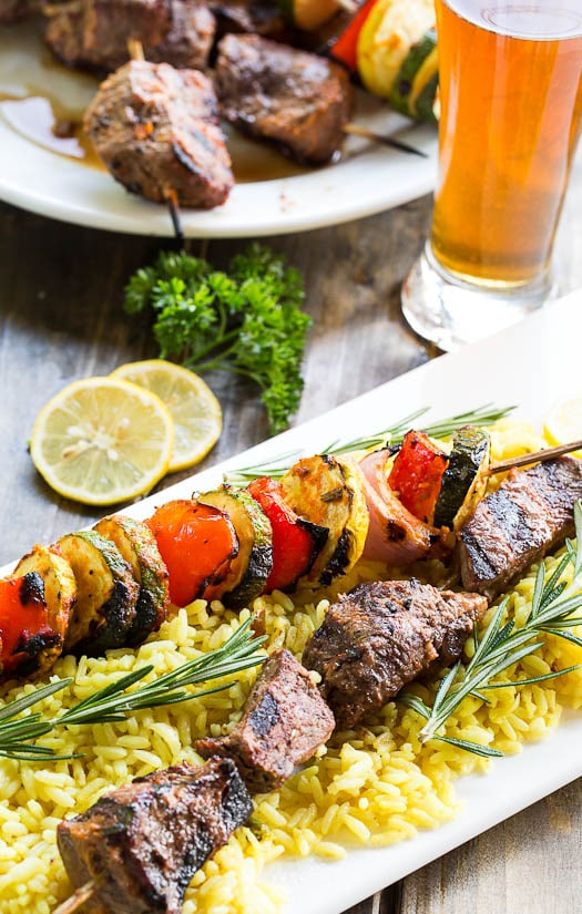 Grilled Beef Kabobs Recipes Grilled Beef Kabobs With Lemon