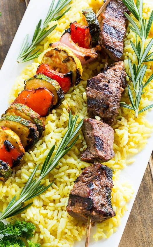 Grilled Beef Kabobs with Lemon and Rosemary