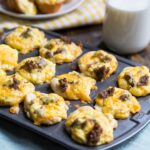 Mini Sausage Biscuit Cups made with refrigerated biscuits. #breakfast