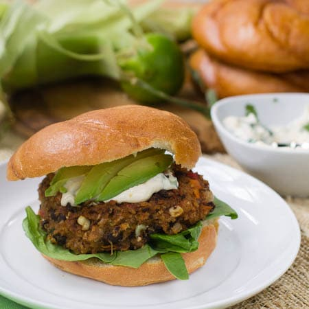 Grateful Dead Black Bean Burger with Cilantro Lime Mayonnaise - Spicy ...