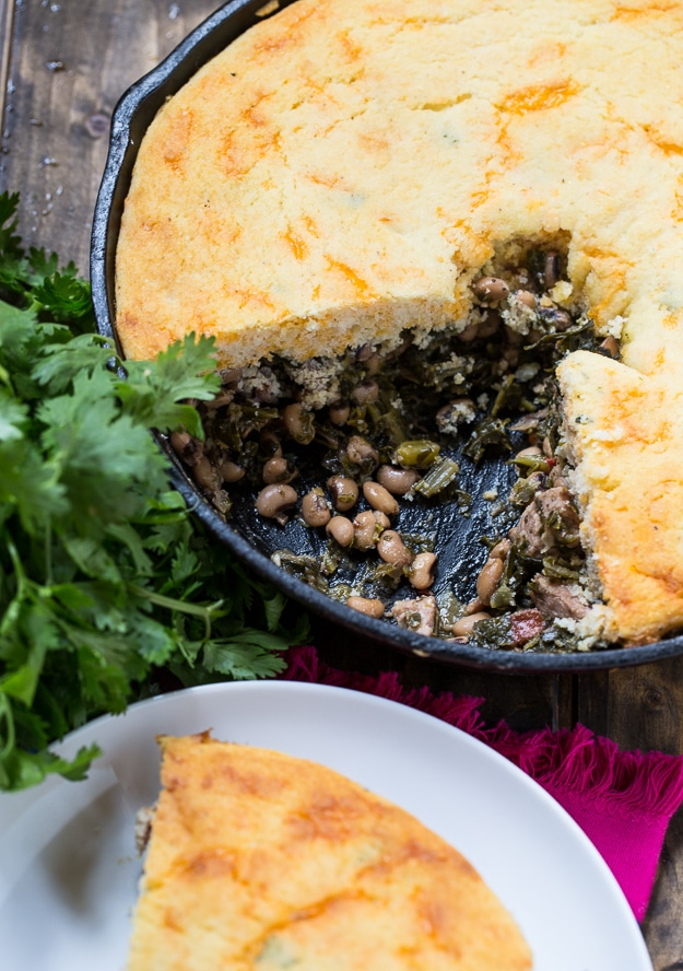Festive Good Luck Cornbread Skillet