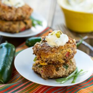 Jalapeno Black-Eyed Pea Cakes #southern #newyears