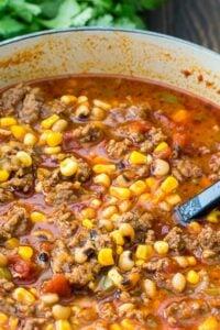 Black-Eyed Pea and Sausage Chili