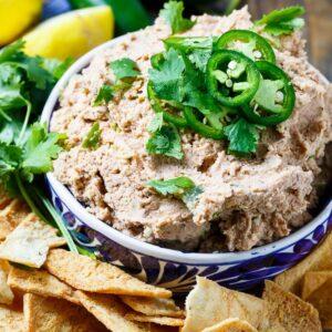 Smoky Jalapeno Black-Eyed Pea Hummus