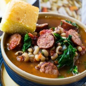 Black-Eyed Pea Stew with Sausage and Kale