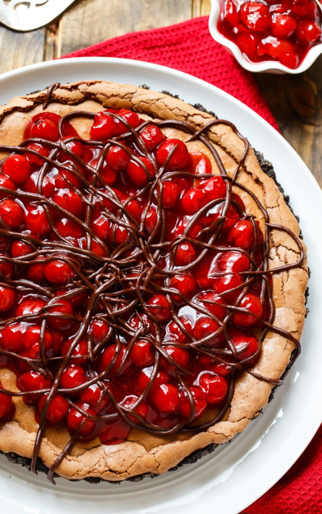 Black Forest Tart- super eay to make with a can of cherry pie filling.