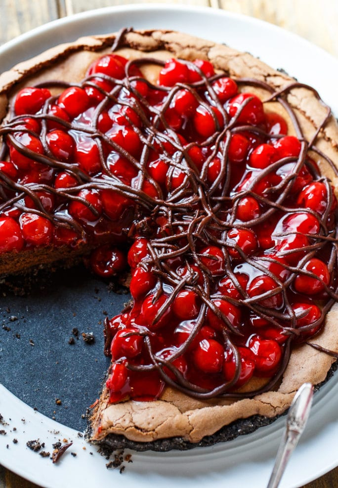 Black Forest Tart- super easy to make with a can of cherry pie filling.