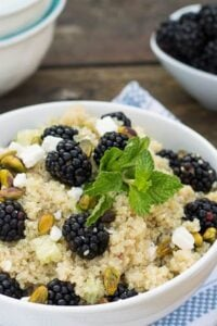 Blackberry Quinoa Salad with feta